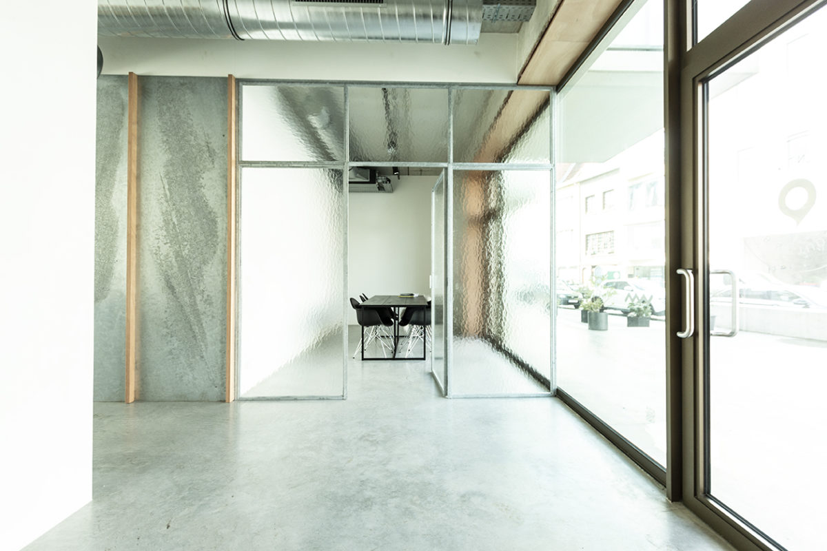 A studio space with a lofty vibe